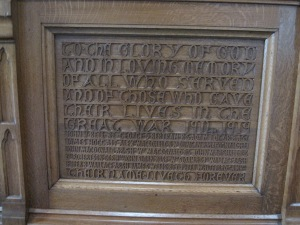 Communion table inscription (2)